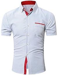 326f4c73290d7 Camisas hombre Camisas de punto de onda Casual para hombres
