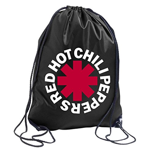 TRVPPY Turnbeutel Modell Red Hot Chilli Peppers RHCP / in versch. Farben / Beutel Rucksack Jutebeutel Sportbeutel Fashion Hipster (Rock Hipster Red)