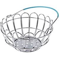 MagiDeal Kids Mini Metal Supermarket Shopping Basket For Kitchen Fruit Vegetable Food Grocery Storage Pretend Play Tools Toy Gifts Blue