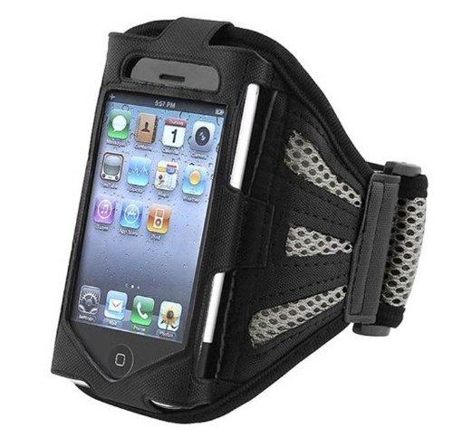 Preisvergleich Produktbild High Value Netz Grau laufender Armbinde-Kasten-Abdeckung für Apple iPhone 4S / 4