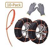 Reifenketten, 10 StückAnti-Rutsch-Schneeketten mit verstellbarer Riemen für SUV
