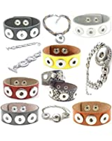 Time4-Charms Chunks Leder & Metall Armband in verschiedenen Größen und Farben ab 4,99 € zur Auswahl