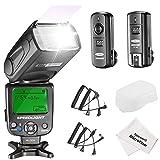 Neewer Kit di NW620 Flash Manuale Speedlite per Canon Nikon Panasonic Olympus Pentax e Altre Reflex Digitali, Inclusi: Flash NW620 GN58, Diffusore Duro, 2,4G Wireless Trigger, Stoffa di Pulizia in Microfibra immagine