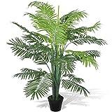 Anself Kunstpflanze Zimmerpalme Künstliche Phoenix Palme mit Topf 130cm