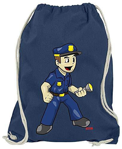Für Kostüm Plus Erwachsene Shirt - HARIZ Turnbeutel Polizist Witzig Taschenlampe Polizei Lustig Plus Geschenkkarte Navy Blau One Size