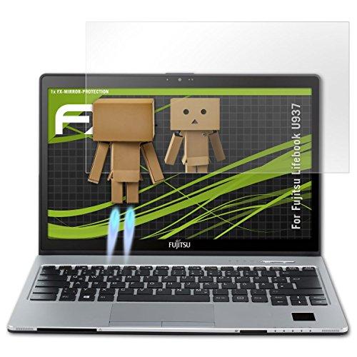 atFolix Bildschirmfolie kompatibel mit Fujitsu Lifebook U937 Spiegelfolie, Spiegeleffekt FX Schutzfolie