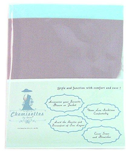 Chemisettes by Anne, scollatura di cotone, no pizzo, modestia, 5taglie Grey