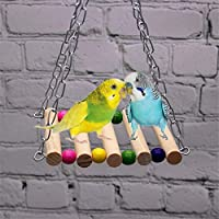 Sweetheart -LMM Colourful Bird Swing Toys Parrot Parakeet Budgie Cockatiel Cage Hammock Swing Hanging Toy