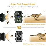 """TOGUARD Trail Game Camera 14MP 1080P Infrared Night Vision Hunting Camera Motion Activated Wild Hunting Cam 120° Detection 0.3s Trigger Speed 2.4"""" LCD Display IP56 Waterproof Bild 2"""
