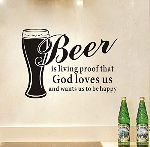 Xlei Etiqueta De La Pared La Cerveza Es Una Prueba