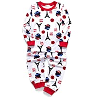 DHASIUE Cartoon Girls Pajamas Cotton Long Pajama Set Little Kids Sleepwear Clothes Size 2-7 Years (4-5 Years, 16 White (Cool Girl))