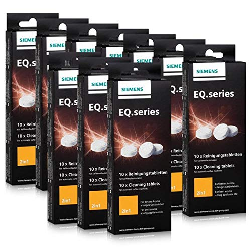Siemens TZ80001 - Set de 10pastillas de limpieza para cafetera