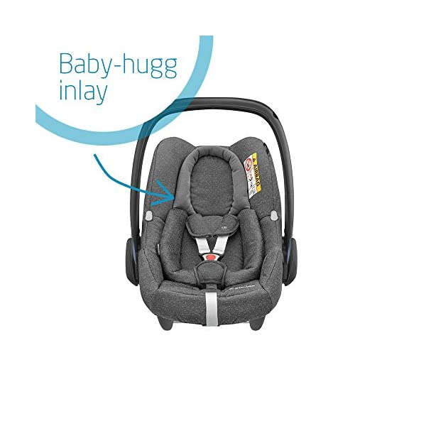 Maxi-Cosi Rock Baby Car Seat Group 0+, ISOFIX, i-Size Car Seat, Rearward-Facing, 0-12 m, 0-13 kg, Sparkling Grey Maxi-Cosi Baby car seat, suitable from birth to 13 kg (birth to 12 months) Enhanced safety: This Maxi-Cosi car seat complies with the i-Size (R129) car seat legislation Baby-hug inlay of this Maxi-Cosi i-Size car seat offers a better fit and laying position for newborns 4