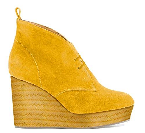 Castaner Agnes / Suede, Chaussures Femme Jaune (MUSTARD)