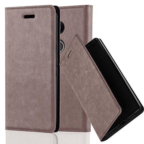 Cadorabo Coque pour LG Nexus 5X en Marron CAFÉ - Housse Protection avec Fermoire Magnétique, Stand Horizontal et Fente Carte - Portefeuille Etui Poche Folio Case Cover