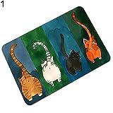 CAheadY Cartoon Katze Wasseraufnahme Rutschfeste Fußmatte Teppich Bodenmatte Badezimmer Schöne Wohnkultur 70 * 120cm 3