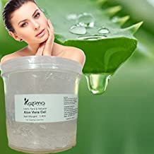 KAZIMA Aloe Vera Gel Raw - 100% Pure Natural Gel - Ideal for Skin Treatment, Face, Acne Scars, Hair Treatment, Moisturizer & Dark Circles (1 KG)