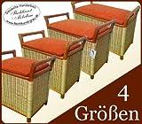 Sitztruhe Wäschetruhe Rattan Kirschbaum 50