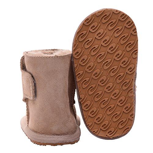 Lambland , Chaussures souple pour bébé (garçon) Small Camel