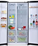 Haier 565 L Inverter Frost-Free Side-by-Side Refrigerator (HRF-619KS, Black Silver)