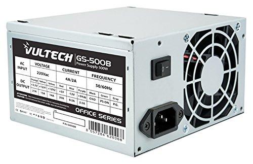 Vultech GS-500B Unidad de - Fuente de alimentación (500 W, 110-220 V, 50-60 Hz, 21 A, 15 A, 14 A)