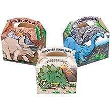 16para niños dinosaurio Carry Food–Bolsa de picnic Comida Fiesta de cumpleaños cajas