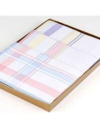"""3 Mouchoirs en tissu """"Nina"""" - 30cm x 30cm"""