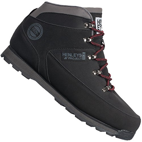 Henleys  Hiker Boot, Baskets pour homme Schwarz