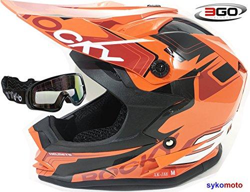 3GO XK188 ROCKY CASCO DE MOTO PARA NIÑOS Y NIÑAS MTB ATV DIRT...