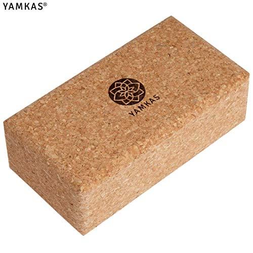 Yamkas Yoga Bloque Corcho   Bloques Corcho Natural de Portugal   Yoga Block 227x120x75mm