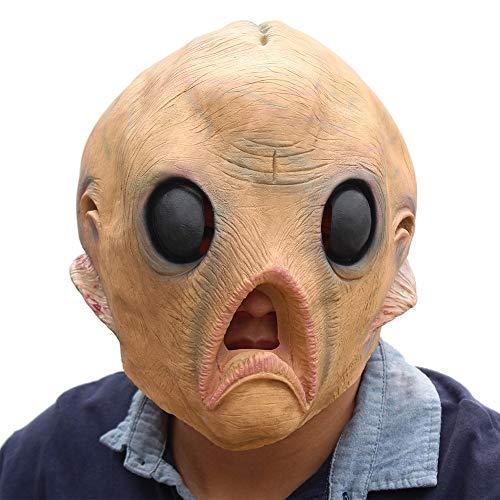 CHAIMEI Latexmaske Masken Erwachsene Jungen Und Mädchen Halloween Blame Gesicht Helm Latex - Jungen General Grievous Kostüm