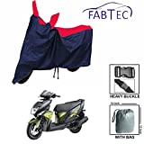 #2: Fabtec Premium Quality Stylish Red & Blue Scooty Cover With Buckle Lock & Storage Bag Free For Yamaha Ray-ZR