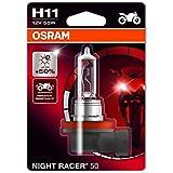 OSRAM 64211NR5-01B Night Racer 50 H11 Projecteur de Moto, 12V, Blister Individuel