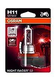 OSRAM 64211NR5-01B NIGHT RACER 50 H11 Halogen Motorrad-Scheinwerferlampe
