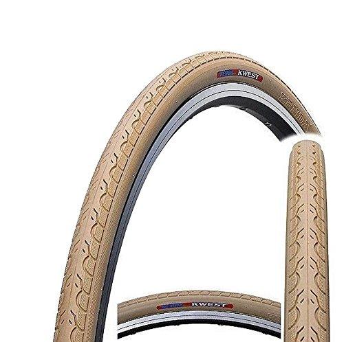 Kenda Kwest K193700C x 28–32C Urban, para bicicleta híbrida neumático para bicicleta de carretera fixie–Slick, Kwest, beige