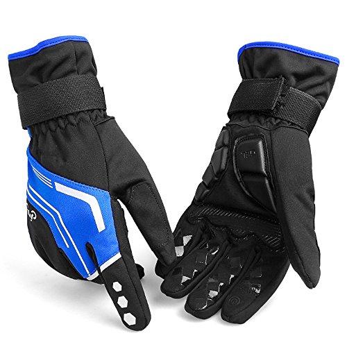 Arbeitshandschuhe Reflektierende wasserdichte Nachtweg-Radfahrenhandschuhe-Motorrad-Handschuhe für Rennrad, Gebirgsradfahren, laufend und wandern Schnittfester Schutz ( Farbe : Blau , Größe : XL ) (Arbeitshandschuhe Reflektierende)