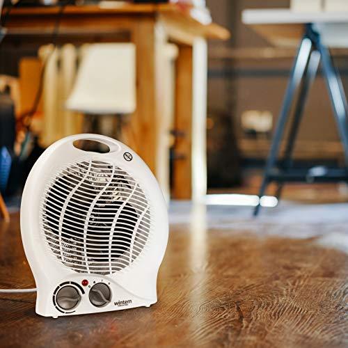 Termoventilatore tanzania 2000w bianco compatto 2 potenze con termostato e led aria calda e fredda