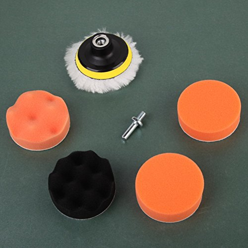 Amazingdeal365 7 Stück 1Set teiliges Polierset Polierschwamm Set Poliermaschine Schwamm Auto polieren für Sauber machen Lackpflege Poliermaschinen