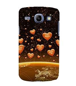printtech Heart Network Back Case Cover for Samsung Galaxy J2 / Samsung Galaxy J2 J200F