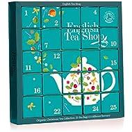 English Tea Shop Organic Blue Advent Calendar Tea Bags, 25-Count