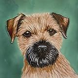"Border Terrier Dog, Decorative Ceramic Picture Tile Dog. 8"" x 8"""