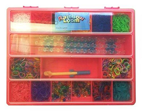 Rainbow Loom 21966 - Original Geschenkset Girls, 600 Bänder mit 24 C - Clips