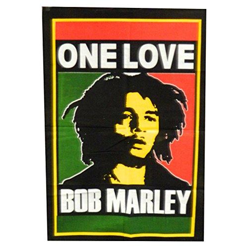 TELO DECORATIVO in cotone motivo Bob Marley One Love 108x75cm