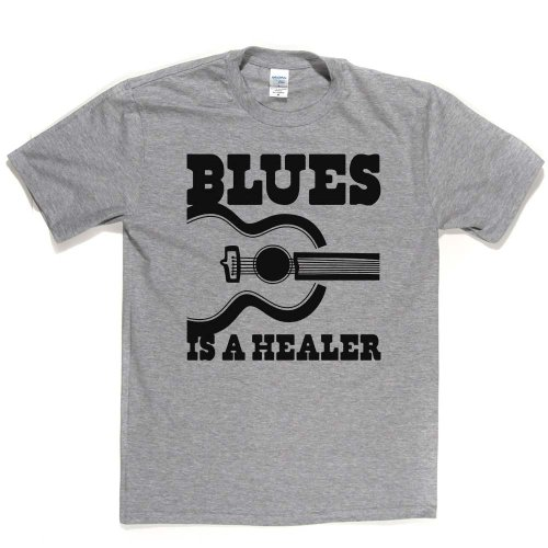 Blues is a Healer Blues Music Genre T-shirt Aschgrau