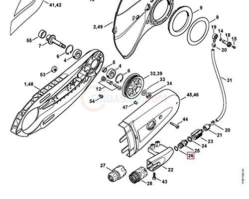 Genuine Stihl TS400 TS410 WATER FEED HOSE LOCK O RING 9645 945 7506