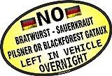 sticar-it Ltd DIVERTENTE N° Bratwurst SX nel veicolo German MODELLO AUTOADESIVO DECALCOMANIA PER AUTO PER BMW ecc. 140x90mm ca