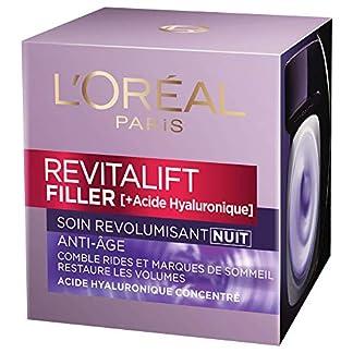 L'Oréal Paris Revitalift Filler Crema de noche con acción voluminizadora de 50ml