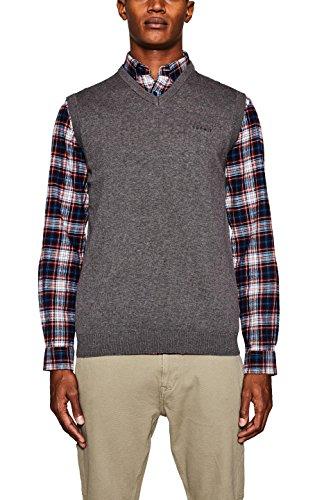 ESPRIT Herren 107EE2I033 Pullover, Grau (Dark Grey 020), Large