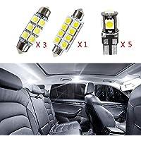 Cobear para Scirocco R Super Brillante Fuente de luz LED Interior Lámpara de Coche Bombillas de Repuesto Blanco Paquete de 9
