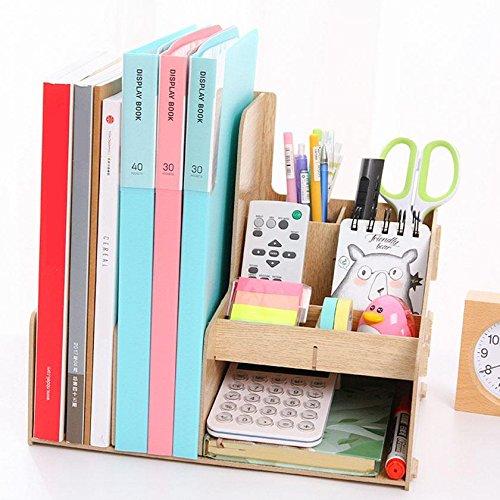 HETAO Kombination von Holz-Datei-Rahmen Desktop-Office-Aufbewahrungsbox Briefpapier Informationen Finishing Frame Aufbewahrungsbox , 79250Einfach und stilvoll